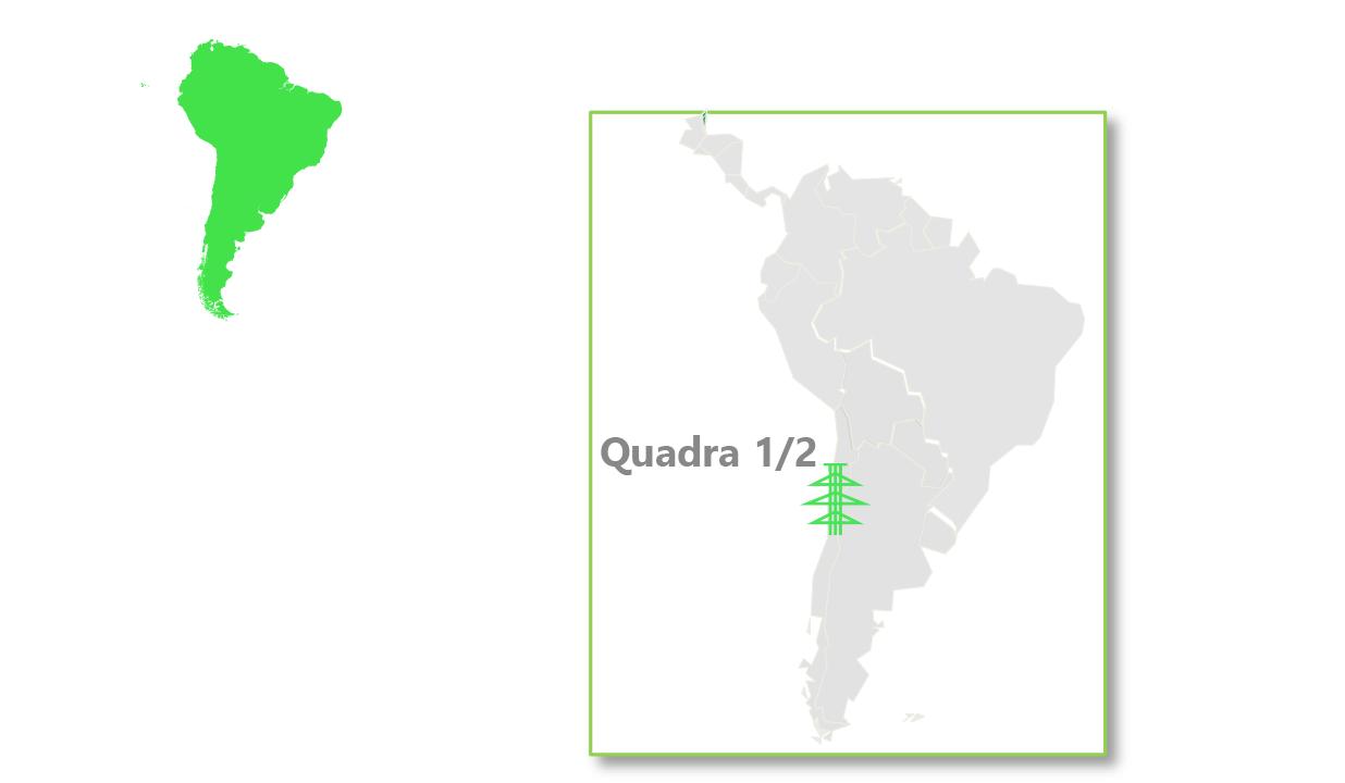 Quadra 1&2 is located in Chile
